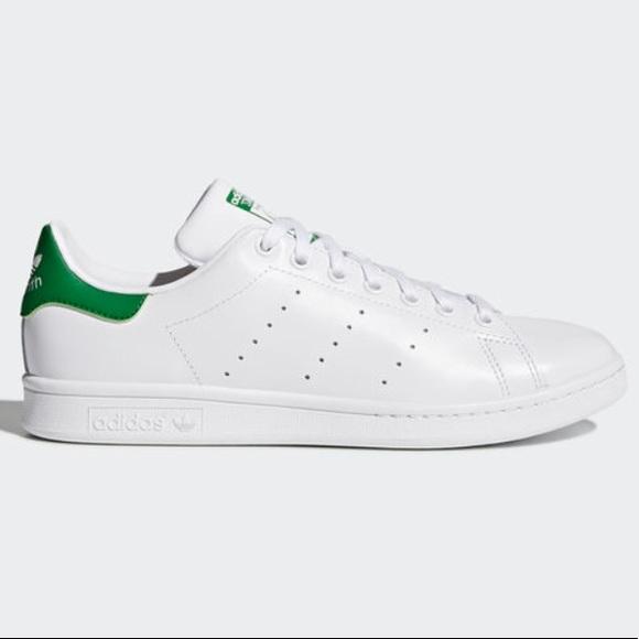 le adidas stan smith, scarpe da ginnastica in verde e bianco poshmark